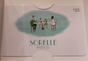 Sorelle and Co. giveaway winners